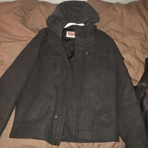 Levi's wool blend thick jacket. (Military style)